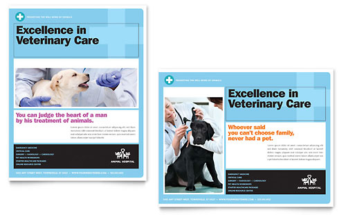 Animal Hospital Poster Template - Microsoft Office