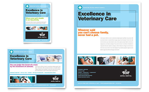 Animal Hospital Flyer & Ad Template - Microsoft Office