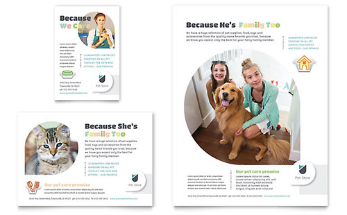 Pet Store Flyer & Ad Template - Microsoft Office