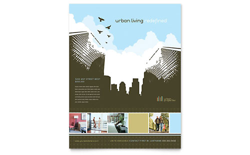 Urban Real Estate Flyer Template - Microsoft Office