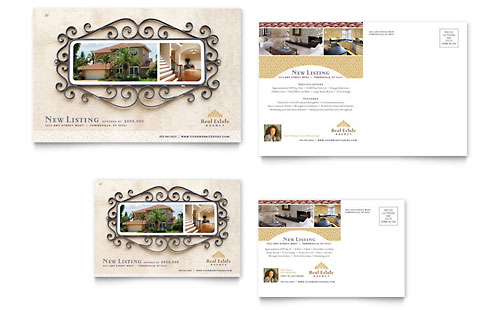 Luxury Real Estate Postcard Template - Microsoft Office