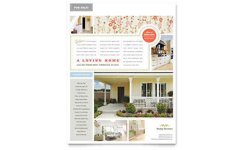 Residential Real Estate - Flyer Templates - Word & Publisher