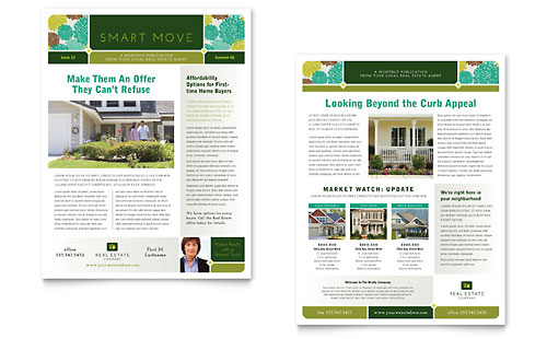 Real Estate Newsletter Template - Microsoft Office
