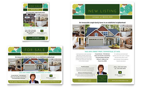 Real Estate Flyer & Ad Template Design
