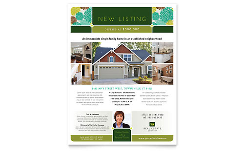 Real Estate Flyer Template - Microsoft Office