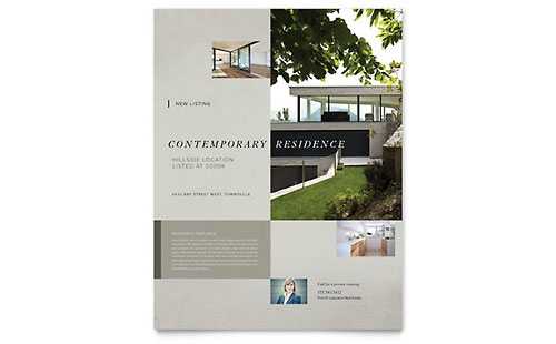 Contemporary Residence Flyer Template - Microsoft Office