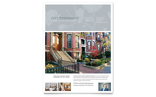 Townhouse Flyer Template - Microsoft Office