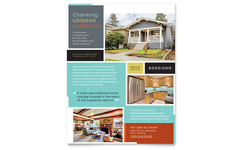 Craftsman Home Flyer Template - Microsoft Office