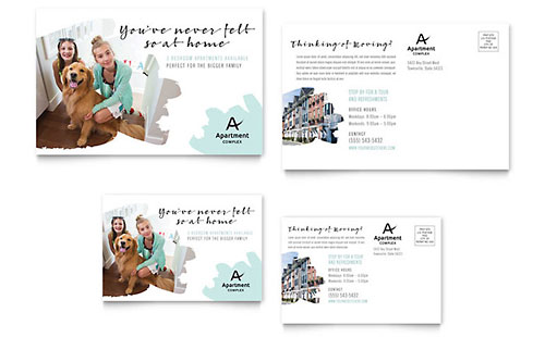 Apartment Postcard Template - Word & Publisher