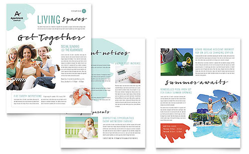 Publisher Newsletter Templates