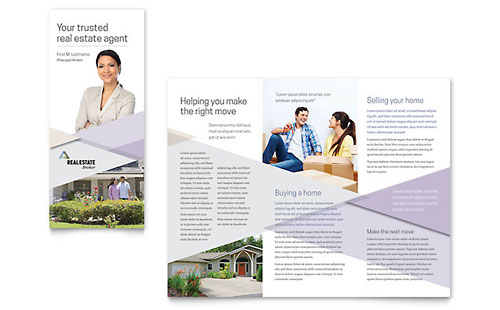 Realtor Brochure Template - Word & Publisher