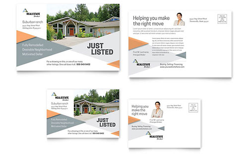 Realtor Postcard Template - Word & Publisher