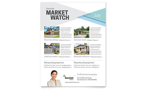 Real Estate Flyer Templates Word Publisher - Brochure templates on word