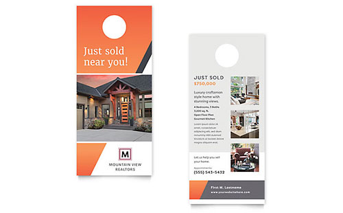 Mountain Real Estate Rack Card Template - Word & Publisher