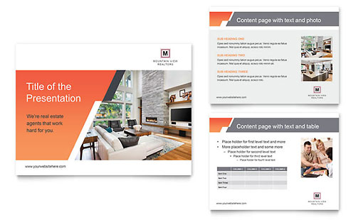 Mountain Real Estate PowerPoint Presentation Template