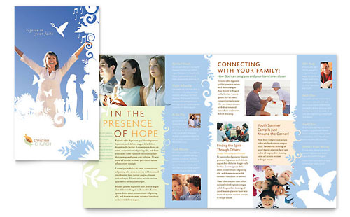 Christian Church Brochure Template - Microsoft Office