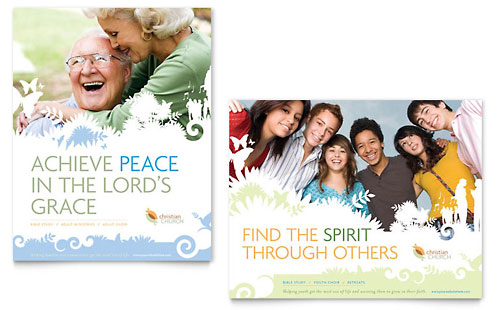 Christian Church Poster Template Design