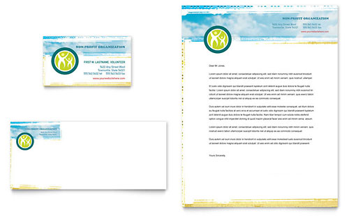 Special Education Business Card & Letterhead Template - Microsoft Office