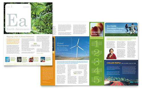Environmental & Agricultural Non Profit Newsletter Template - Microsoft Office