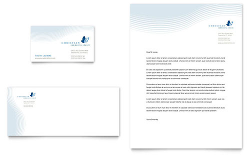 Christian Ministry Business Card & Letterhead Template - Microsoft Office