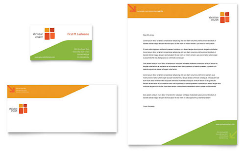 Church Youth Ministry Business Card & Letterhead Template Design