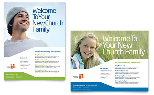 Church - Poster Templates - Word & Publisher