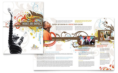 Church Youth Group Brochure Template Design
