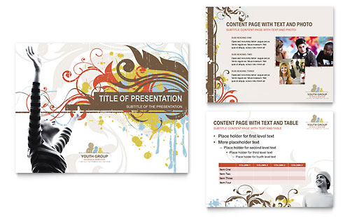 Church Youth Group PowerPoint Presentation Template - Microsoft Office