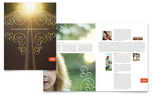 Christian Church Religious Brochure Template - Microsoft Office
