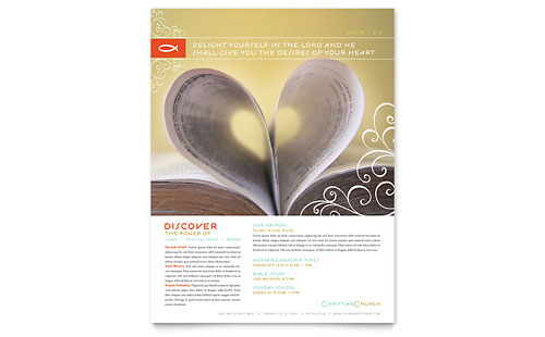 Christian Church Religious Flyer Template - Microsoft Office