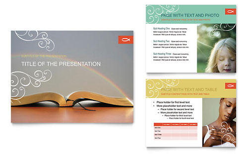Christian Church Religious PowerPoint Presentation Template - Microsoft Office