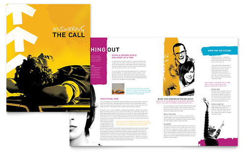 Church Outreach Ministries Brochure Template - Microsoft Office