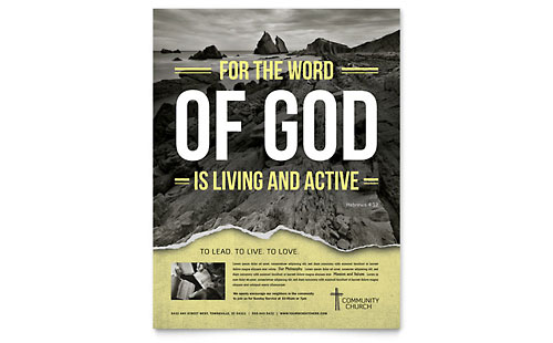 Bible Church Flyer Template - Microsoft Office