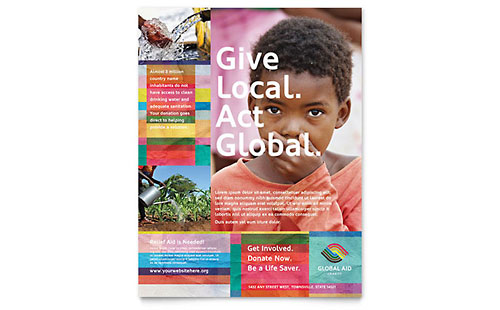 Humanitarian Aid Organization Flyer Template Design