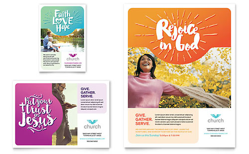 Church Flyer & Ad Template - Microsoft Office