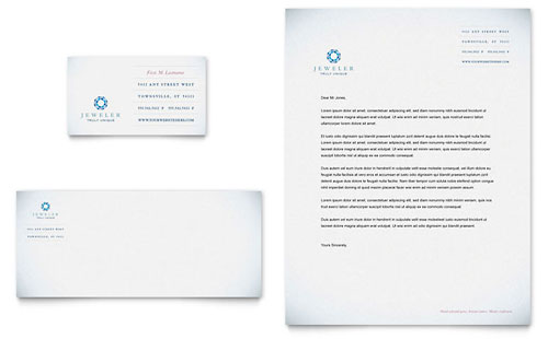 Jeweler & Jewelry Store Business Card & Letterhead Template