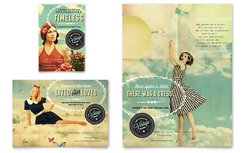 Vintage Clothing Flyer & Ad Template - Microsoft Office