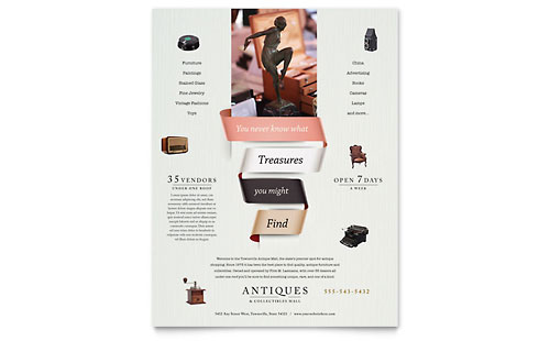 Antique Mall Flyer Template Design