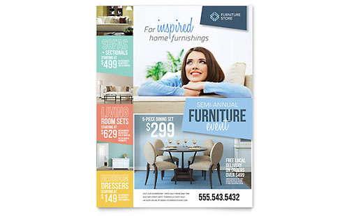 Home Furnishings Flyer Template - Microsoft Office