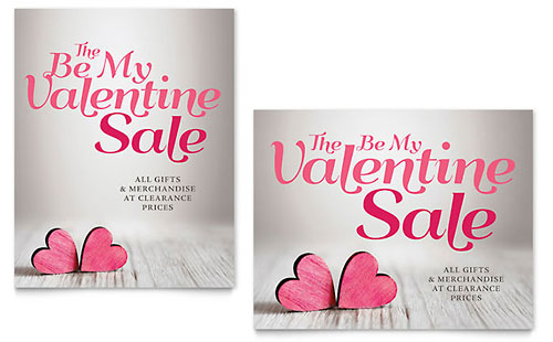 Valentine Sale Poster Template - Microsoft Office
