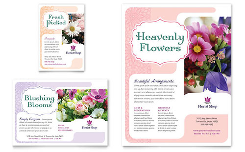 Florist Flyer & Ad Template Design