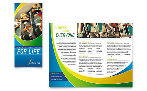 Sports & Health Club Brochure Template - Microsoft Office