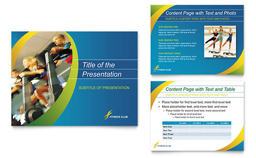Sports & Health Club PowerPoint Presentation Template - Microsoft Office