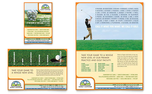 Golf Instructor & Course Flyer & Ad Template - Microsoft Office