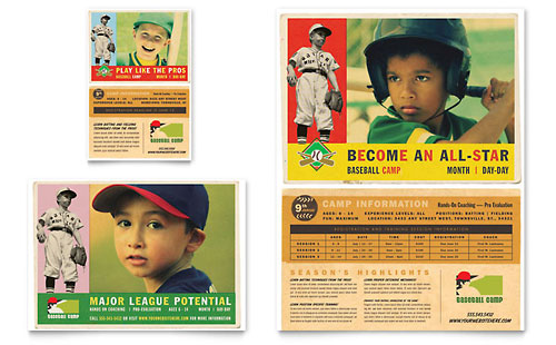 Baseball Sports Camp Flyer & Ad Template - Microsoft Office