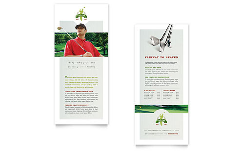 Golf Course & Instruction Rack Card Template - Microsoft Office