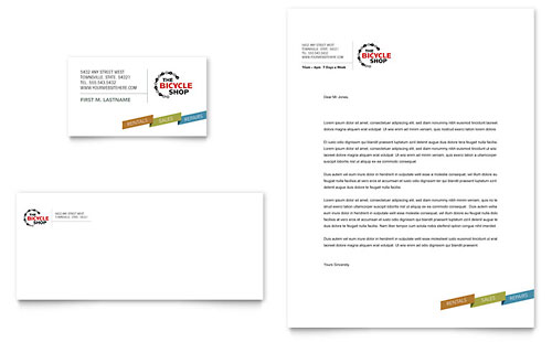 Bike Rentals & Mountain Biking Business Card & Letterhead Template - Microsoft Office