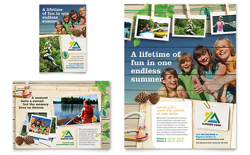 Kids Summer Camp Flyer & Ad Template - Microsoft Office