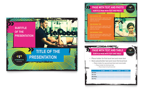 Strength Training PowerPoint Presentation Template - Microsoft Office