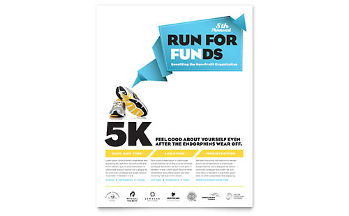 Charity Run Flyer Template - Microsoft Office